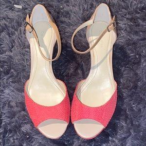 Calvin Klein Colorblock Platform Sandals